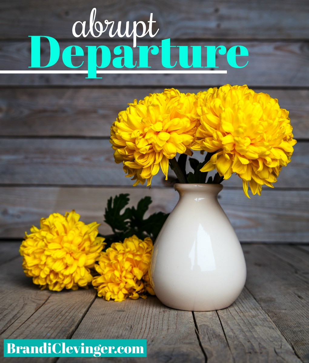 abrupt departure #brandiclevinger