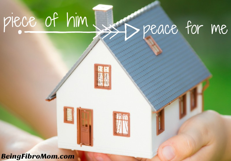 Piece of him peace for me #ps #beingfibromom #brandiclevinger