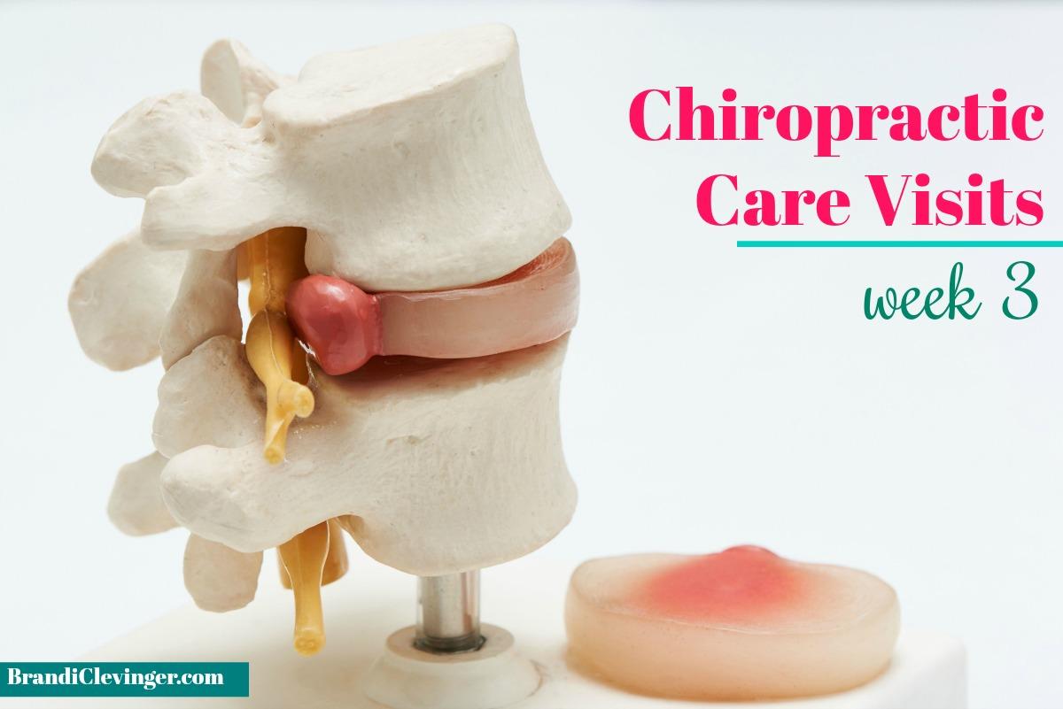 chiropractic care visits: week 3 #chiropracticcare #brandiclevinger